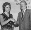 Caroline Pezzullo with Hubert H. Humphrey, Georgetown University, 1966