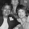 Caroline Pezullo, right, with Nita Barrow and Edith Ballentine, Conveners, Peace Forum, 1985