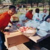 Mildred Tudy-Johnston providing a picnic, in the community. Courtesy of the Tudy family