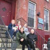 Sandy Schilen, Marie Cirillo, LIsel Burns and Jan Peterson outside NW House in Brooklyn, NY