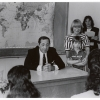 Governor Mario Cuomo, Jan Peterson, with Jan's son, and teacher at the Opening Ceremony from You Can Community School. Courtesy of the Sophia Smith Collection