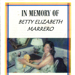 Memorial Booklet Betty Elizabeth Marrero