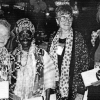 Beijing '95: left to right, Virginia Sarwein of the UN Nongovernmental Liaison office, Esther Ocloo of Ghana, Caroline Pezzullo and Margaret (Peg) Snyder