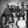 Caroline Pezzullo, middle row-third from left, hosting a group of activists friends at her NY apartment
