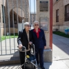 Tillie Tarantino and Marie Leanza in front of the building named after them